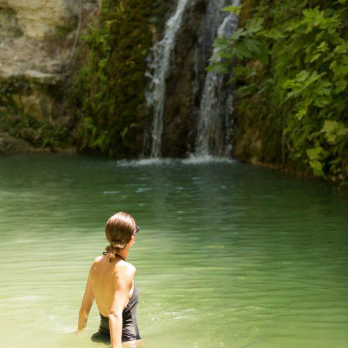 adonis baths waterfalls paphos