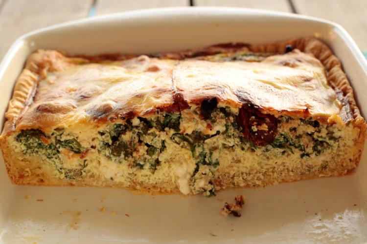 Feta, Spinach and Quinoa Quiche