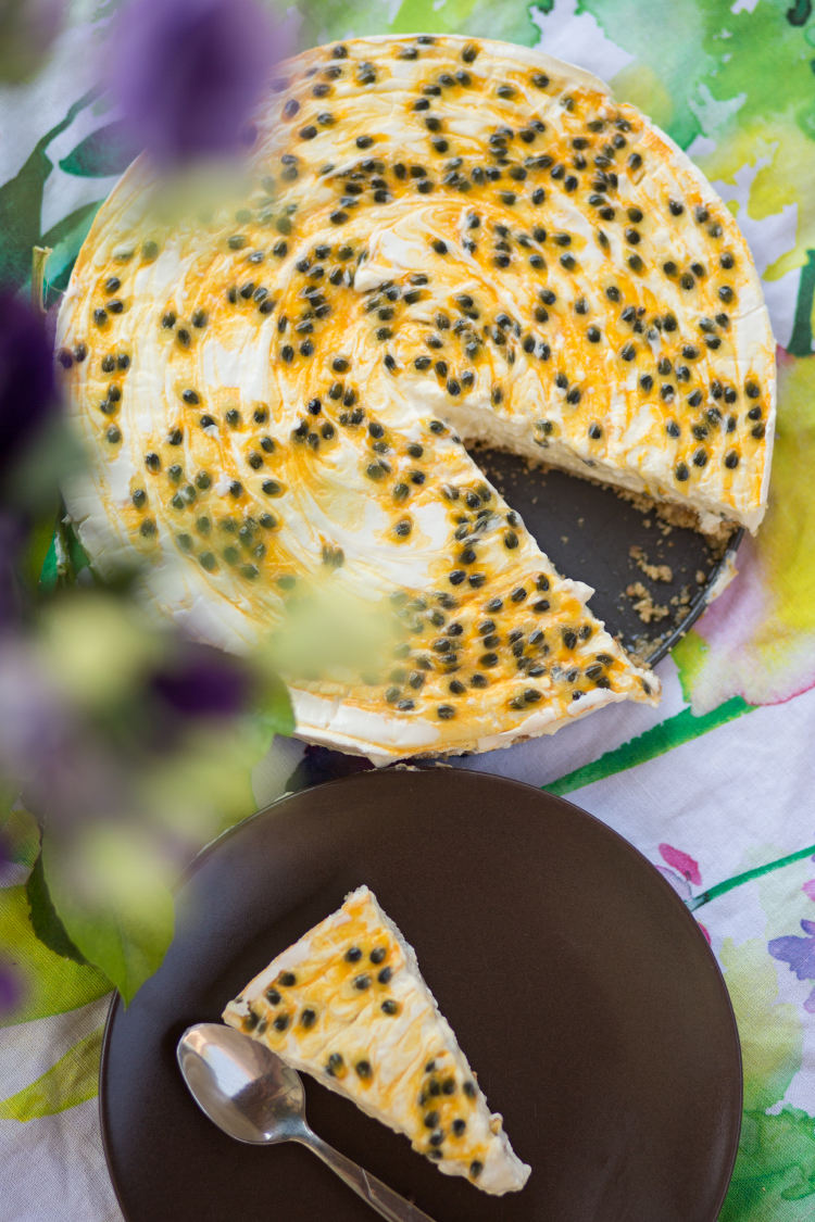Passion Fruit Cheesecake with Limoncello