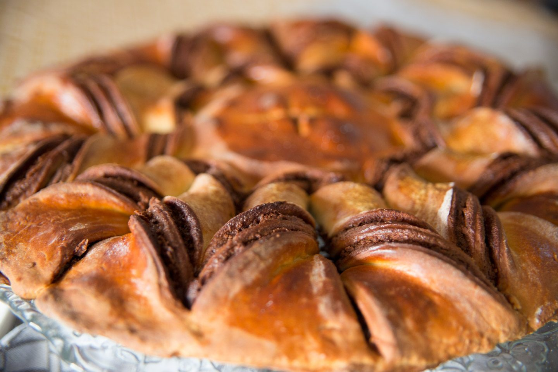Braided Nutella Star Cake