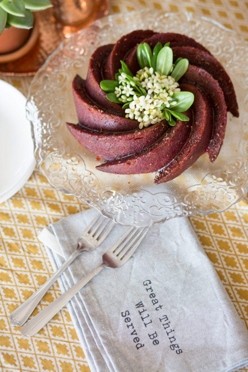 Vegan Bundt Cake with Amaretto
