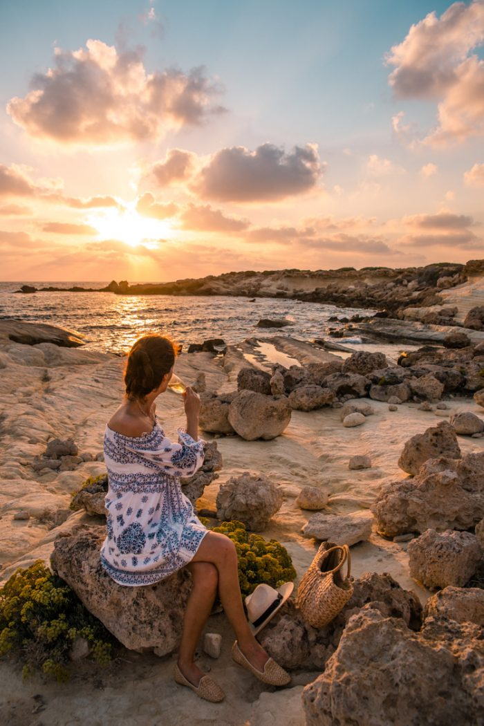 Sunset Picnic in Coral Bay, Cyprus