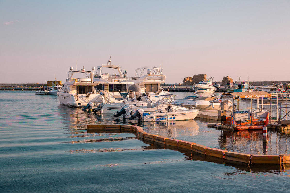 boats at Paphos Harbour, Cyprus