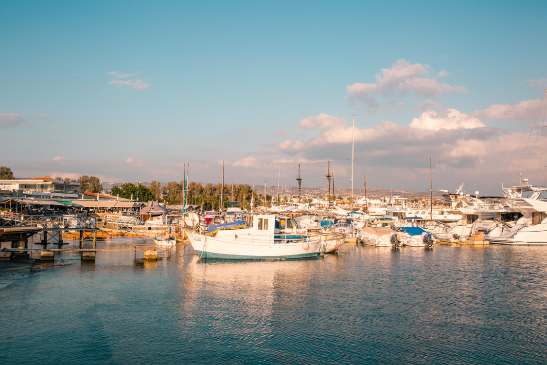 boats at the Paphos Harbour, Cyprus