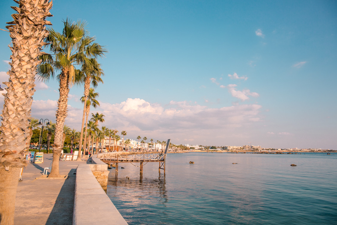 seaside view of Paphos Harbour, Cyprus