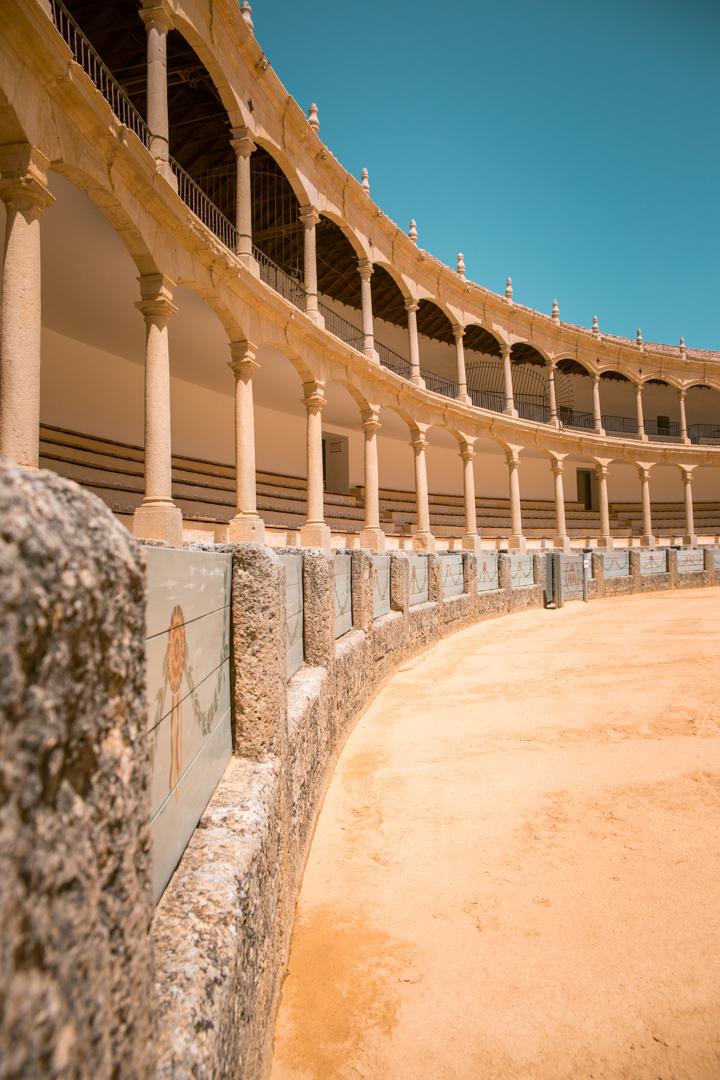 plaza del toros in ronda, andalusia