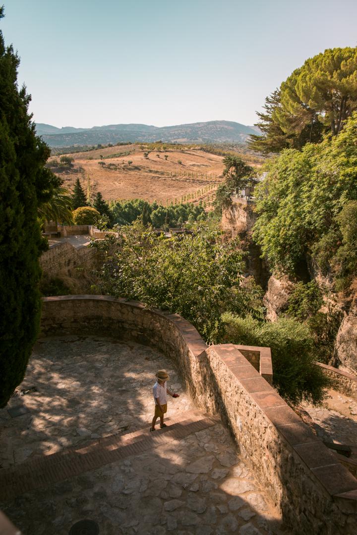 gardens near puento romano, ronda andalusia