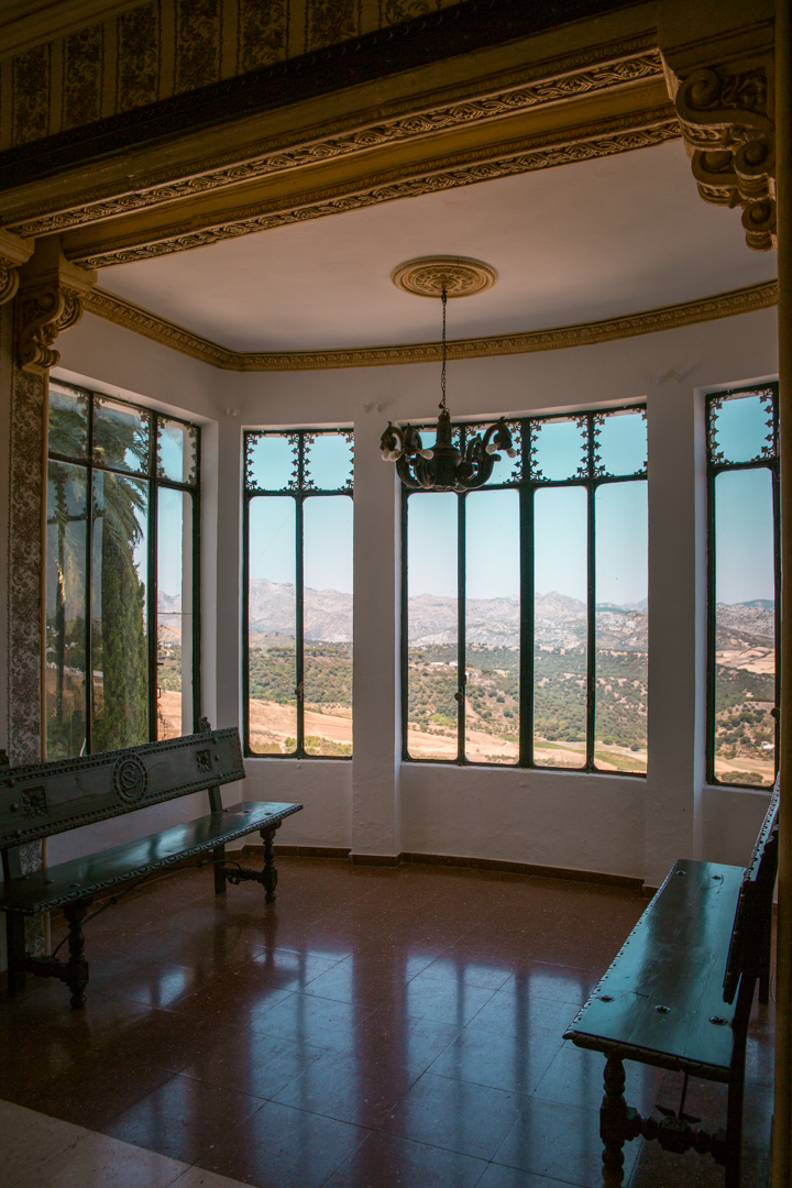 casa del bosco in Ronda, Andalusia - views towards the garden