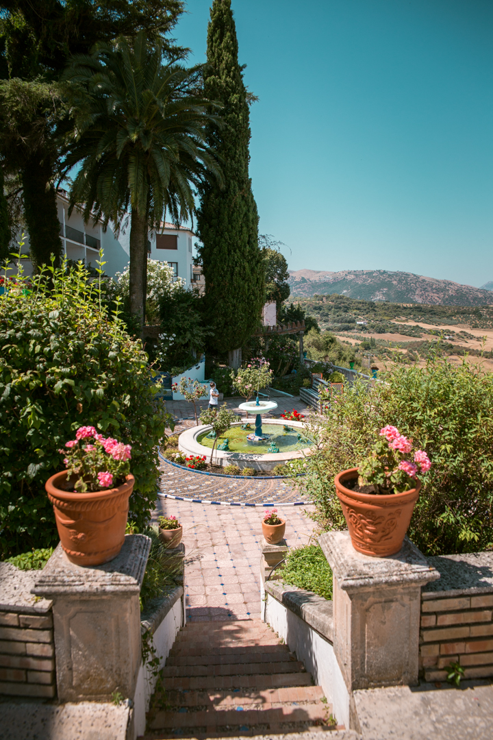 casa del bosco in Ronda, Andalusia - garden views