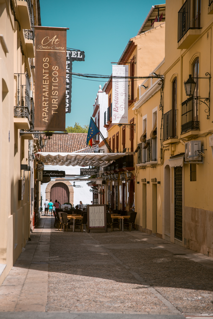 Old town streets in Ronda, Andalusia