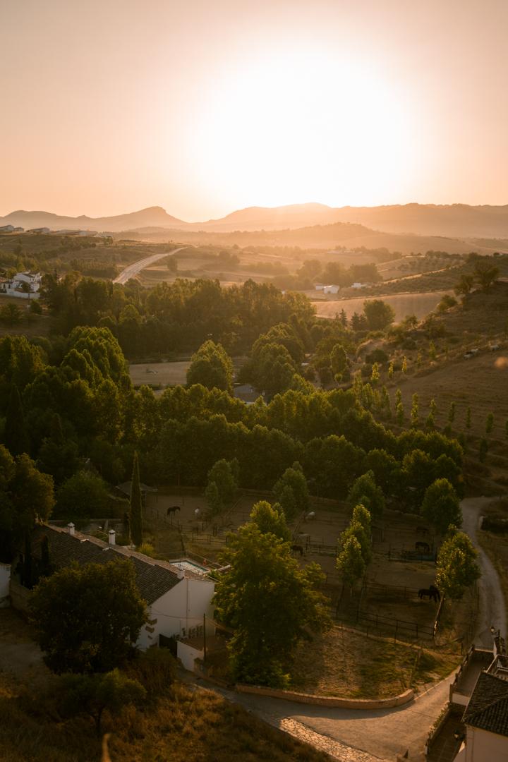 sunrise in ronda, andalusia