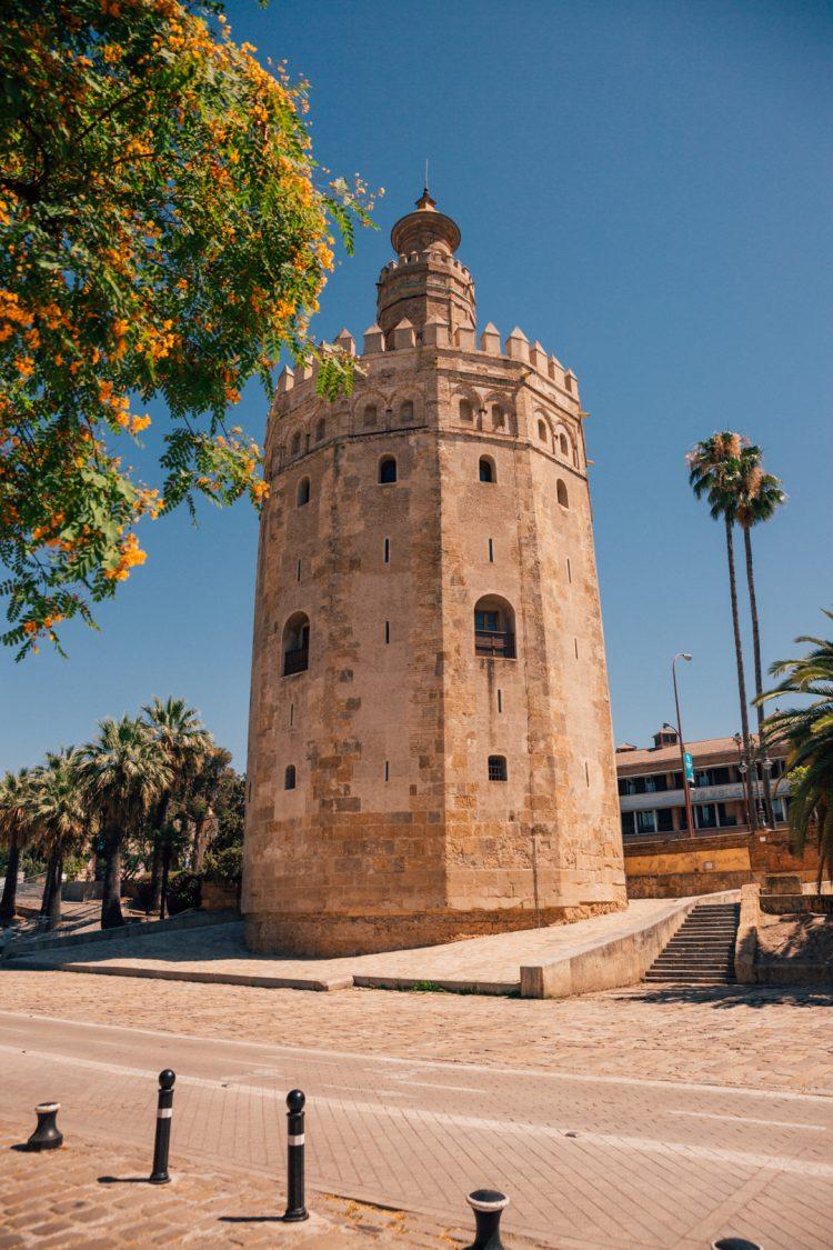 observation tower in seville, spain